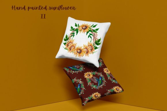 Hand Painted Sunflower Collection II Graphic Design Item