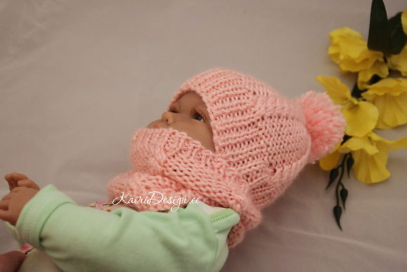 Hand Knitting -Baby Doll Hat and Scaf Graphic