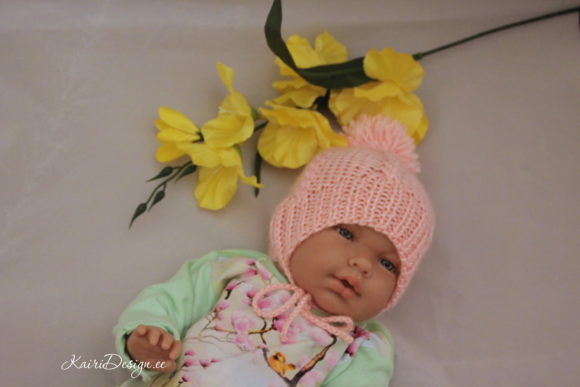 Hand Knitting -Baby Doll Hat and Scaf Graphic Download