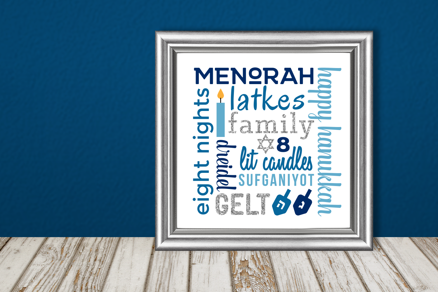 Download Free Hanukkah Subway Art Graphic By Designedbygeeks Creative Fabrica for Cricut Explore, Silhouette and other cutting machines.