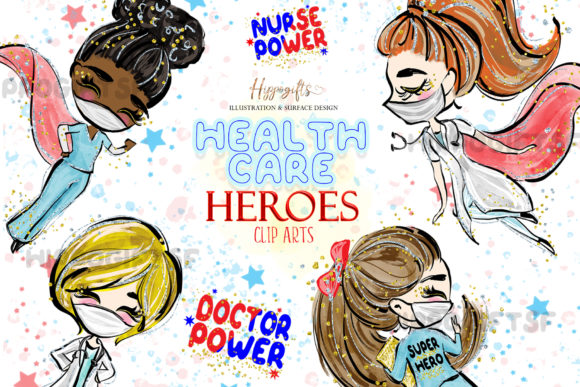 Download Free Health Care Heroes Cliparts Graphic By Hippogifts Creative Fabrica for Cricut Explore, Silhouette and other cutting machines.