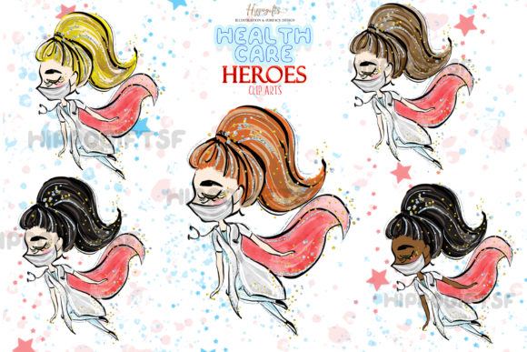Download Free Health Care Heroes Cliparts Graphic By Hippogifts Creative Fabrica SVG Cut Files