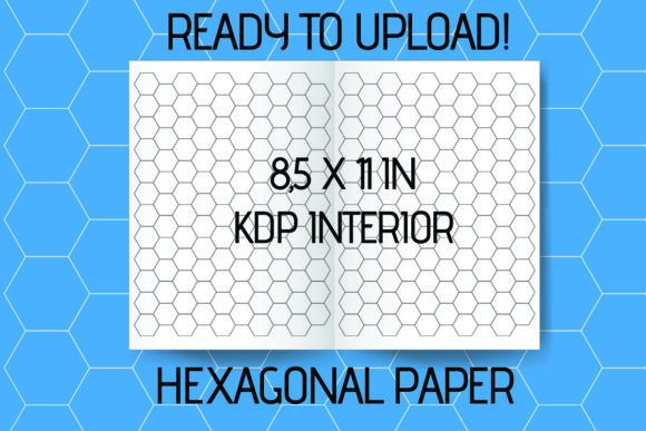 Print on Demand: Hexagonal Paper KDP Interior Hex Journal Graphic KDP Interiors By KDPassion