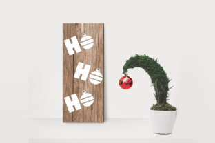 HoHoHo Christmas Ornament Porch Sign Graphic Crafts By DesignedByGeeks