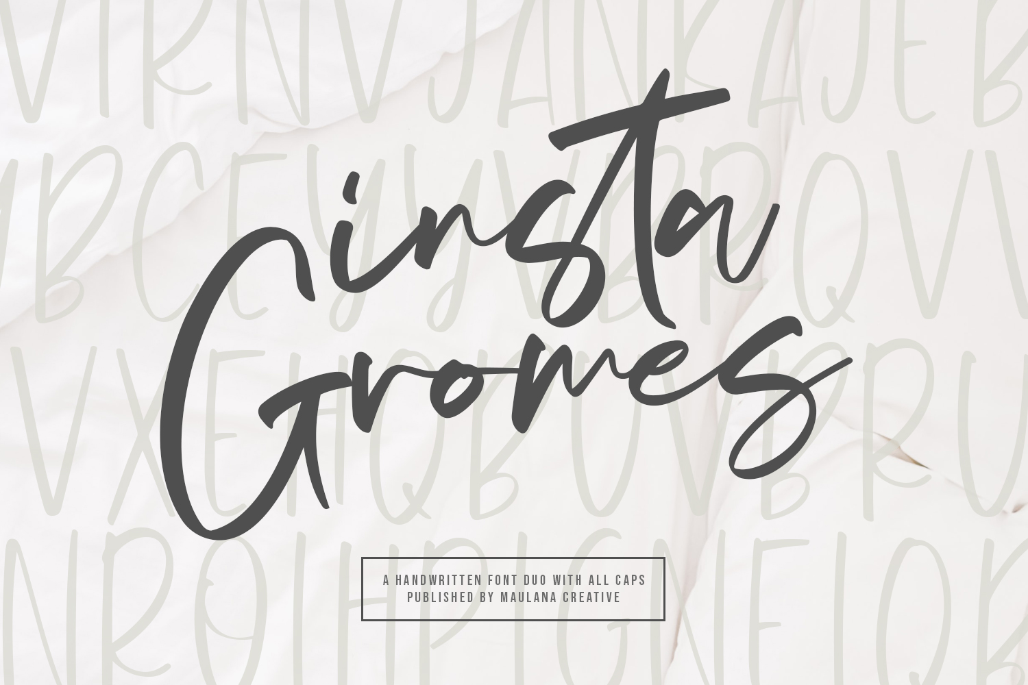 Download Free Insta Gromes Font By Maulana Creative Creative Fabrica for Cricut Explore, Silhouette and other cutting machines.