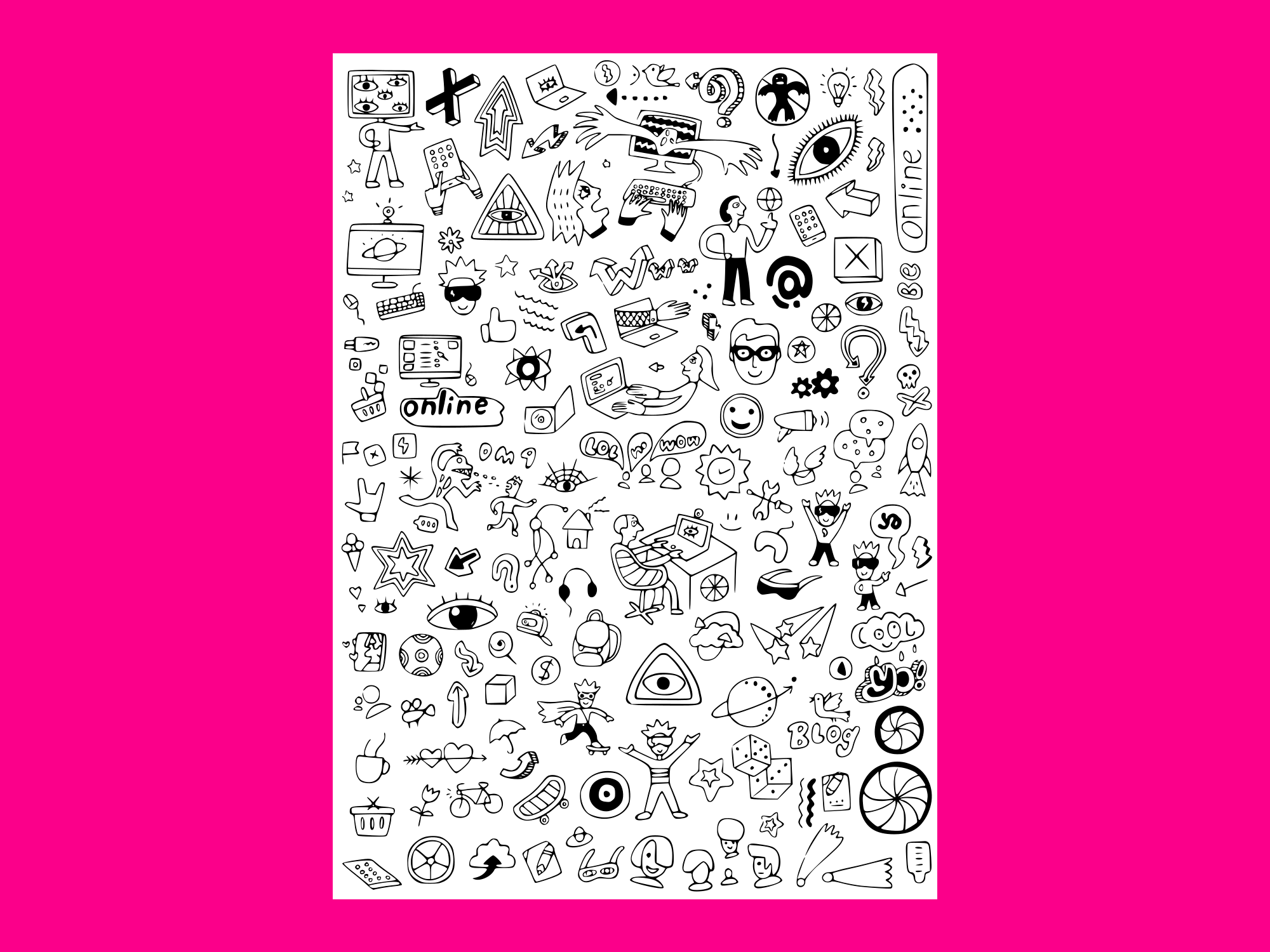 Download Free Internet Technology Doodle Set 2 Graphic By Anrasoft Creative for Cricut Explore, Silhouette and other cutting machines.