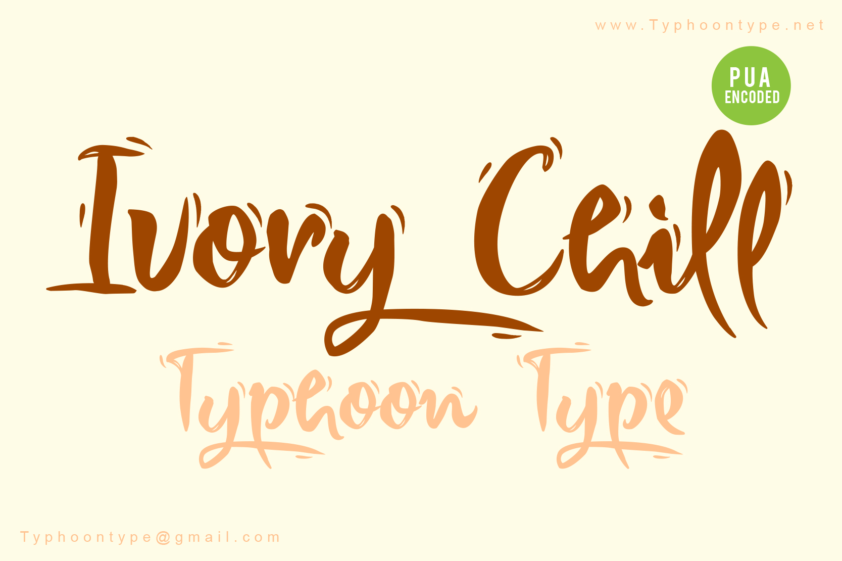 Download Free Ivory Chill Font By Typhoon Type Suthi Srisopha Creative Fabrica for Cricut Explore, Silhouette and other cutting machines.