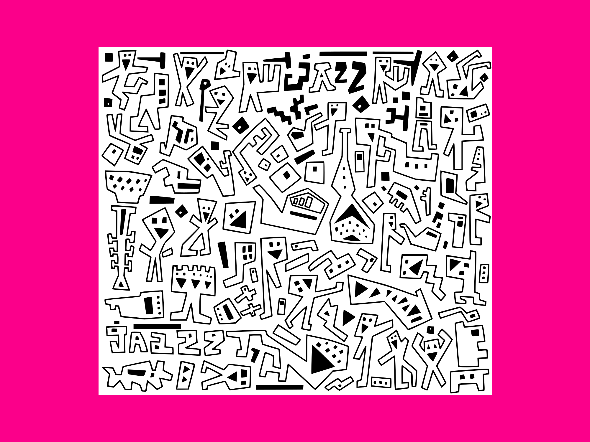 Download Free Jazz Doodles 3 Graphic By Anrasoft Creative Fabrica for Cricut Explore, Silhouette and other cutting machines.
