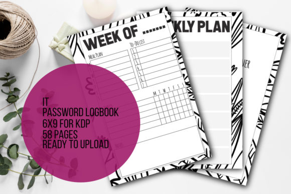 Print on Demand: KDP Weekly Planner 6x9 120 Pages Graphic KDP Interiors By stanosh