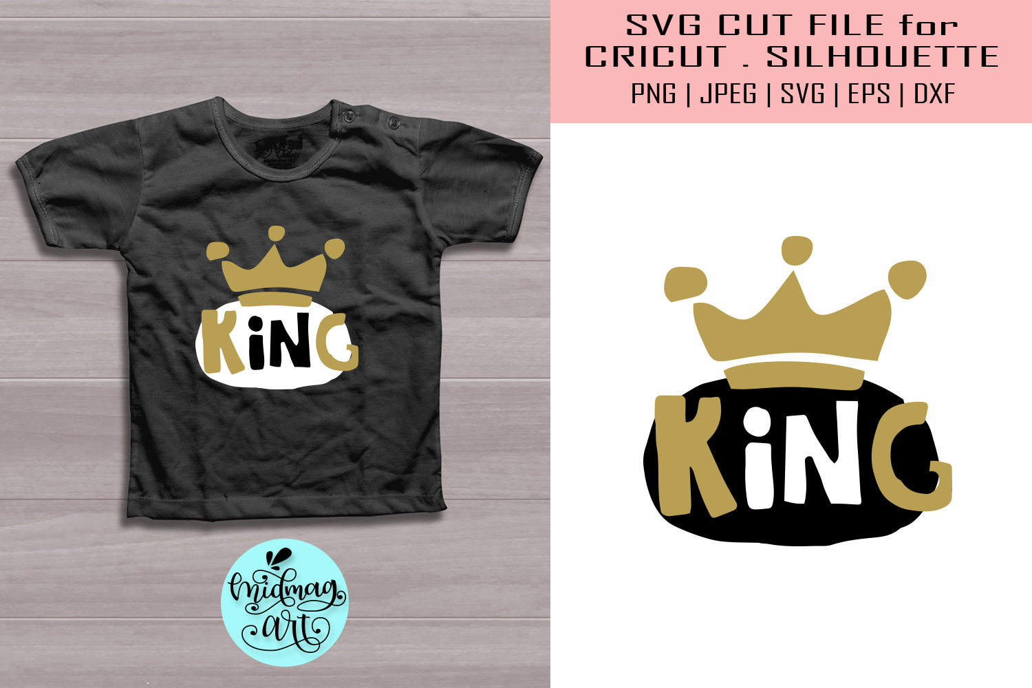 Download Free King New Born Graphic By Midmagart Creative Fabrica for Cricut Explore, Silhouette and other cutting machines.