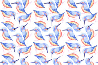 Kingfisher Bird Watercolor Graphic Backgrounds By shawlin
