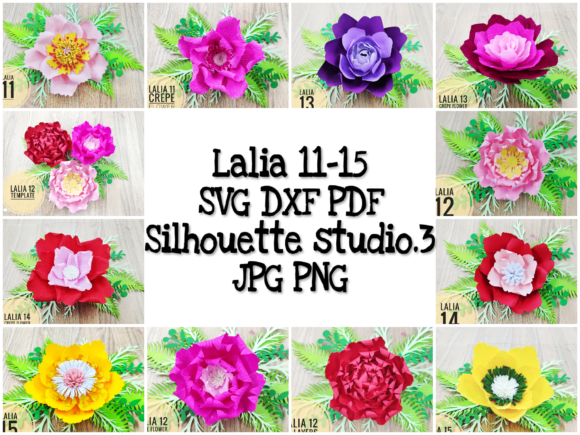 Download Free Lalia 11 15 Giant Paper Flower Backdrop Graphic By Lasquare for Cricut Explore, Silhouette and other cutting machines.