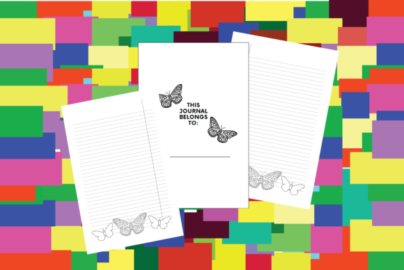Print on Demand: Lined Journal Interior with Butterfly Graphic KDP Interiors By Ivana Prue