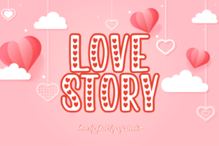 Print on Demand: Love Story Script & Handwritten Font By NJStudio