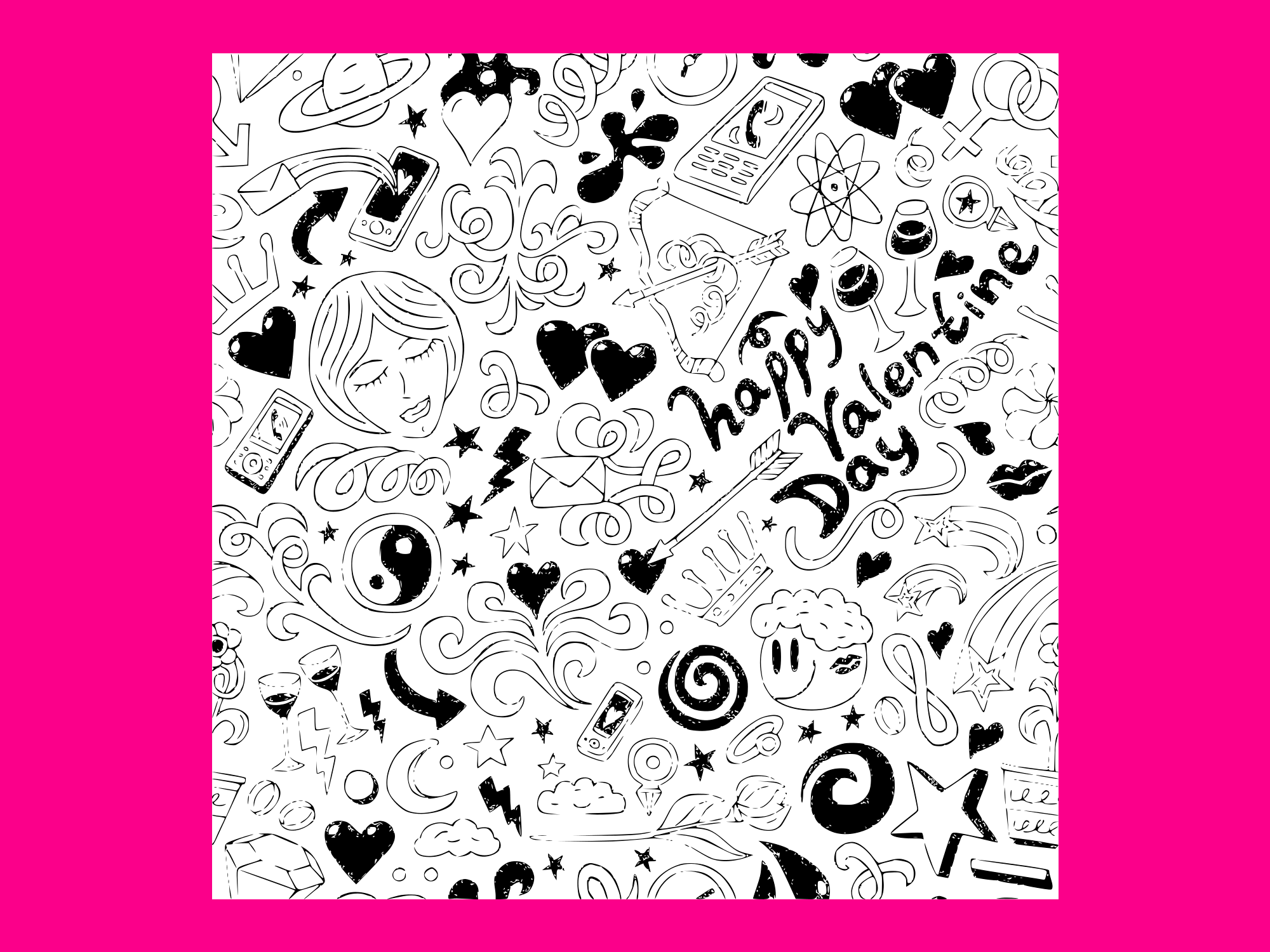 Download Free Lovevalentine Day Doodles Collection Vec Grafico Por Anrasoft for Cricut Explore, Silhouette and other cutting machines.
