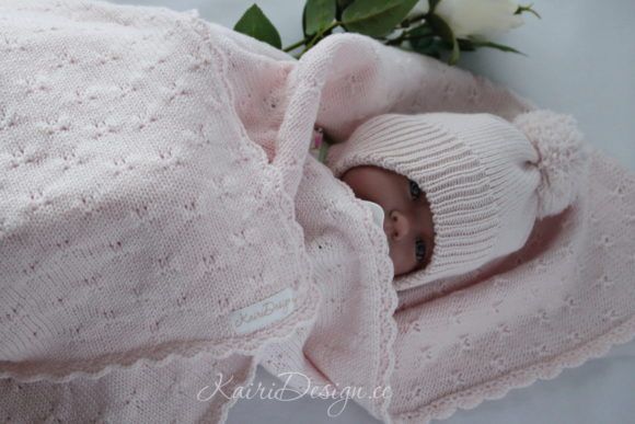 Machine Knitting Pattern - Baby Blanket Graphic Knitting Patterns By Kairi Mölder - Image 1