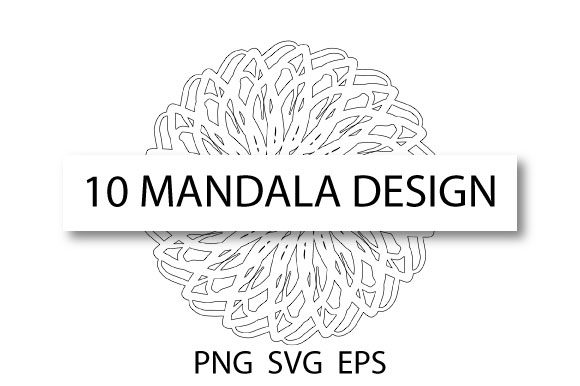 Download Free Mandala Coloring Template Pack Graphic By Rheinata Creative for Cricut Explore, Silhouette and other cutting machines.