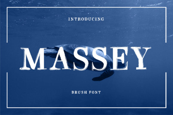 Print on Demand: Massey Display Font By ed.creative