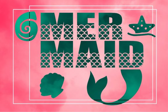 Print on Demand: Mermaid Display Font By KtwoP