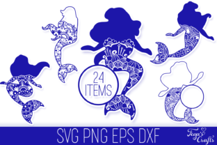 Download Free Mermaid Mandala Files Pack Graphic By Anastasia Feya Creative for Cricut Explore, Silhouette and other cutting machines.