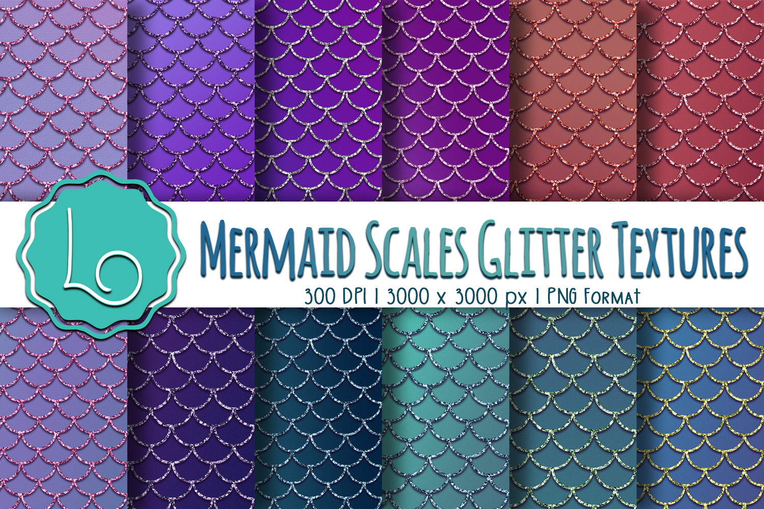 Download Free Mermaid Scales Glitter Textures Graphic By La Oliveira for Cricut Explore, Silhouette and other cutting machines.