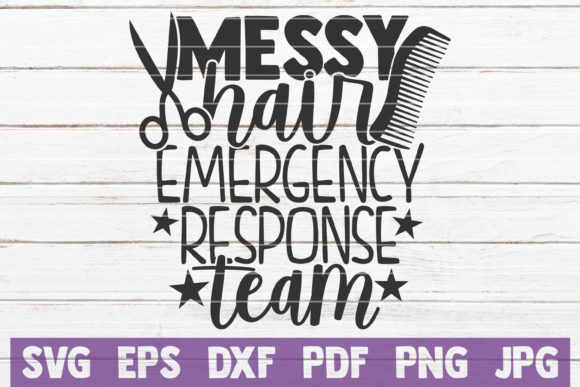 Download Free Messy Hair Emergency Response Team Graphic By Mintymarshmallows for Cricut Explore, Silhouette and other cutting machines.