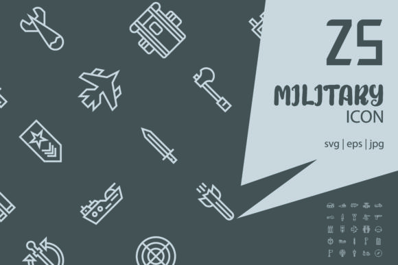 Military Graphic Icons By astuti.julia93@gmail.com