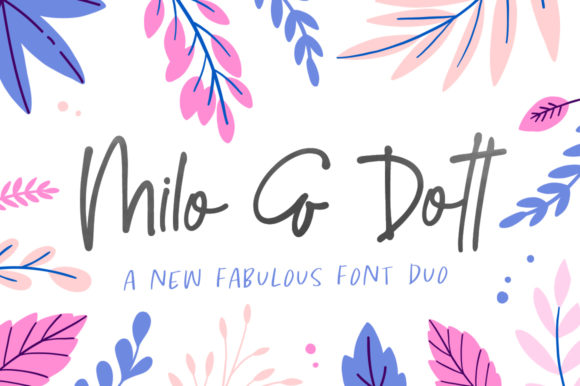 Print on Demand: Milo & Dott Display Font By Salt & Pepper Designs