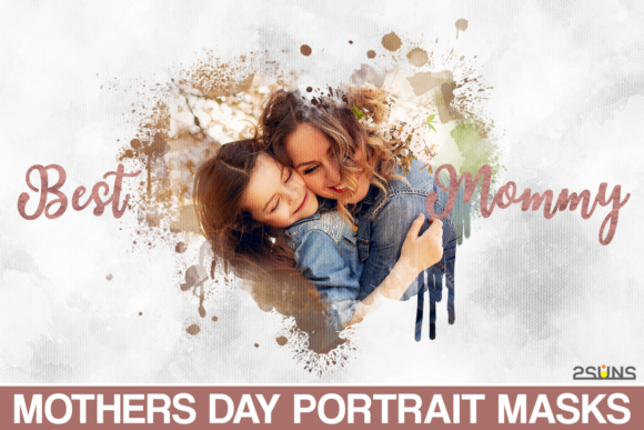 Mothers Day Watercolor Clipping Masks Graphic Layer Styles By 2SUNS