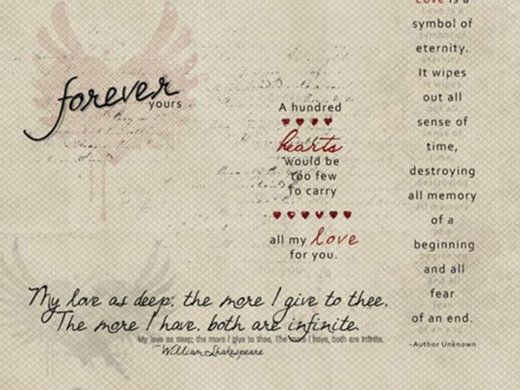 Print on Demand: My Love Word Art Graphic Illustrations By LilBitDistressed