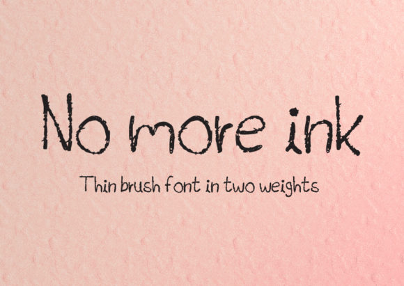 Print on Demand: No More Ink Display Font By GraphicsBam Fonts