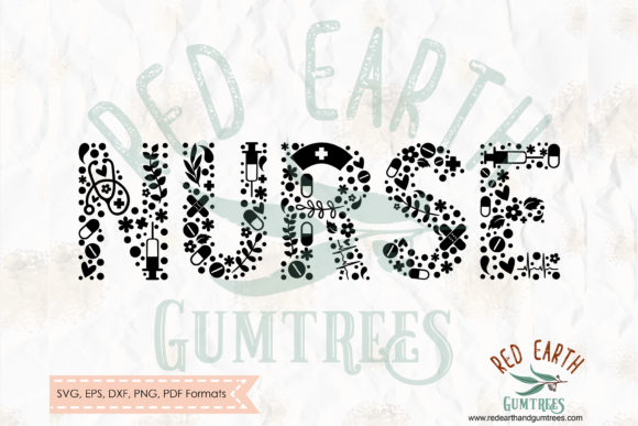 Download Free Nurse Word Svg Nurse Shirt Decal Svg Graphic By Redearth And for Cricut Explore, Silhouette and other cutting machines.