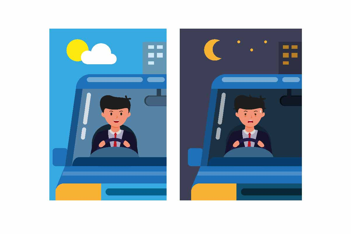 Download Free Office Man Driving Car Day And Night Graphic By Aryo Hadi for Cricut Explore, Silhouette and other cutting machines.
