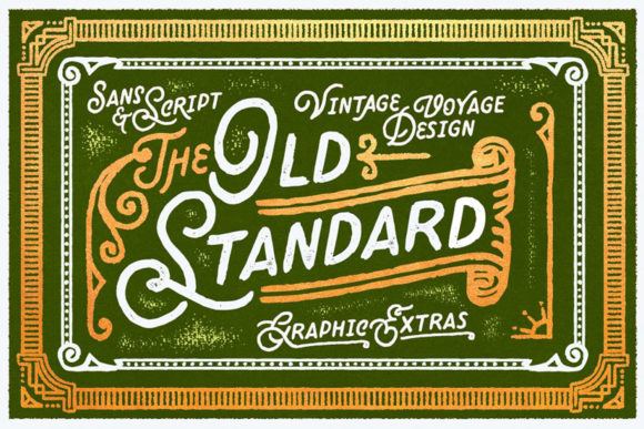 Print on Demand: Old Standard Script & Handwritten Font By vintagevoyageco