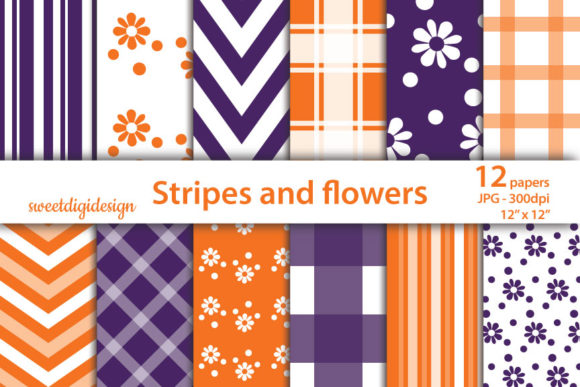 Download Free Orange And Purple Mixed Digital Paper Graphic By Sweetdigidesign for Cricut Explore, Silhouette and other cutting machines.