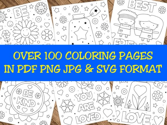 Print on Demand: Over 100 Coloring Pages Massive Bundle Graphic Coloring Pages & Books By ermannofficial