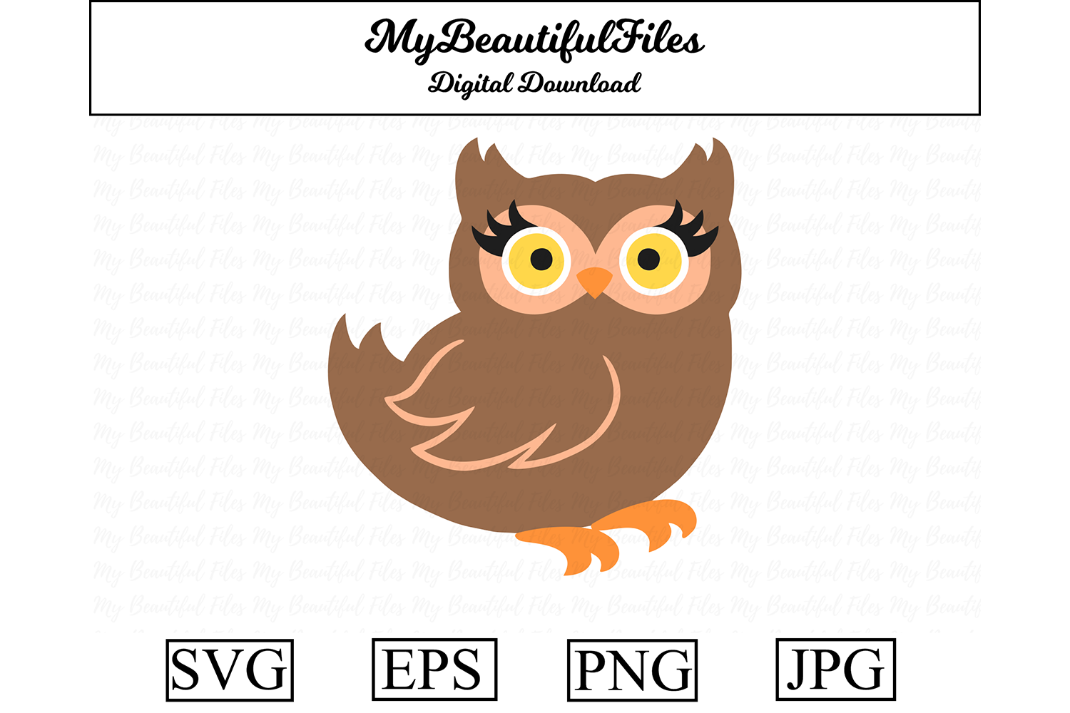 Download Free Owl Clipart Graphic By Mybeautifulfiles Creative Fabrica for Cricut Explore, Silhouette and other cutting machines.