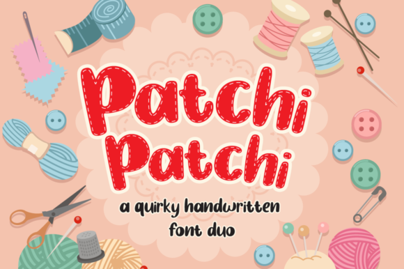 Print on Demand: Patchi Patchi Display Font By attypestudio