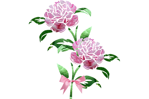 Print on Demand: Pink Flowers Graphic Illustrations By arts4busykids