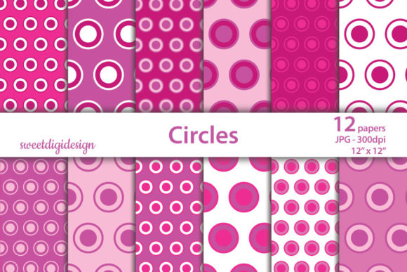 Download Free Pink Polka Dots And Circles Backgrounds Graphic By SVG Cut Files