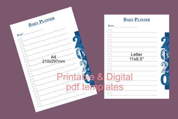 Print on Demand: Planner Templates - Digital & Printable Graphic Print Templates By JATA Arts