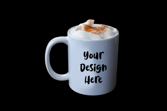 Print on Demand: Printful Coffee Cup Mockup Latte Graphic Product Mockups By A Design in Time