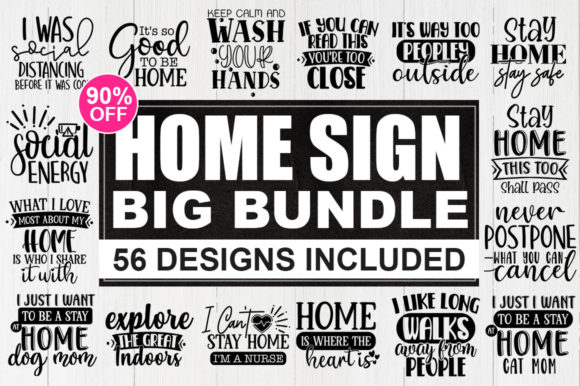 Download Free Quarantine Bundle Home Sign Graphic By Designdealy Com for Cricut Explore, Silhouette and other cutting machines.