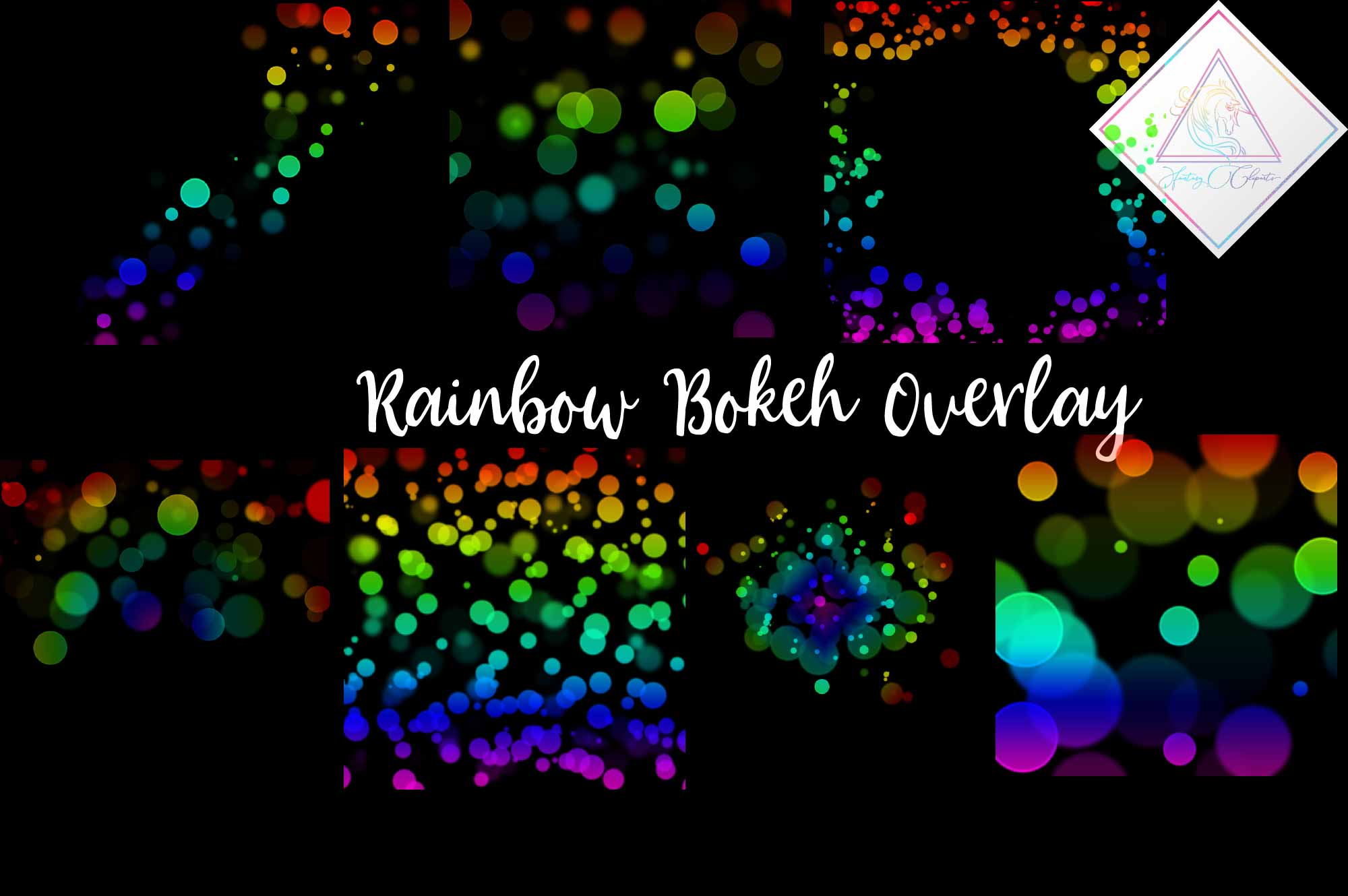Download Free Rainbow Bokeh Clipart Overlay Graphic By Fantasycliparts for Cricut Explore, Silhouette and other cutting machines.
