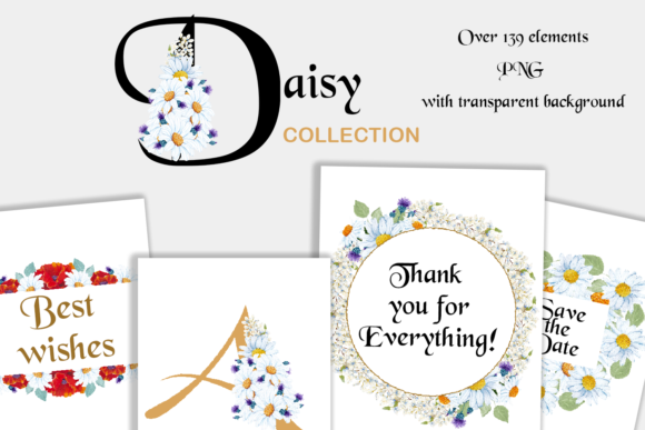 Print on Demand: Romantic Daisy Collection Graphic Illustrations By Andreea Eremia Design