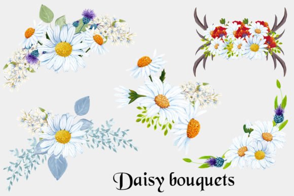 Download Free Romantic Daisy Collection Graphic By Andreea Eremia Design for Cricut Explore, Silhouette and other cutting machines.