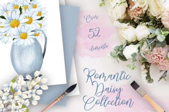 Print on Demand: Romantic Daisy Collection II Graphic Illustrations By Andreea Eremia Design