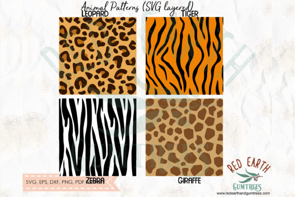 Safari Animals Patterns Template  Graphic Crafts By redearth and gumtrees