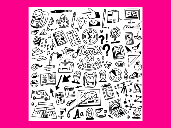 Print on Demand: School Education Doodles Set 5 Graphic Illustrations By anrasoft