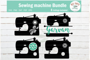 Download Free Sewing Machine Sewing Monogram Graphic By Redearth And Gumtrees for Cricut Explore, Silhouette and other cutting machines.